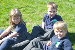Children at Clunbury School